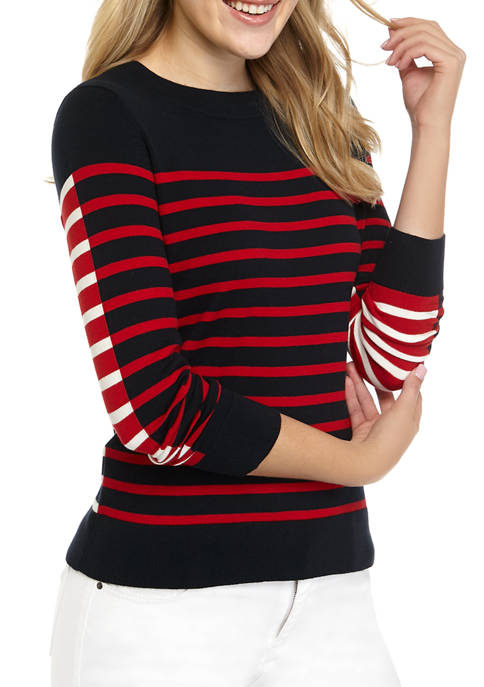 Womens Stripe Mariner Sweater