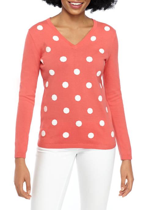 Womens Polka Dot Ivy Sweater