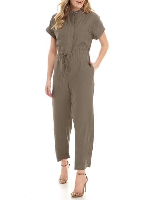 Womens Short Sleeve Jumpsuit