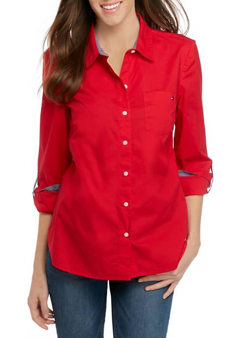 Womens Roll Tab Button Down Shirt