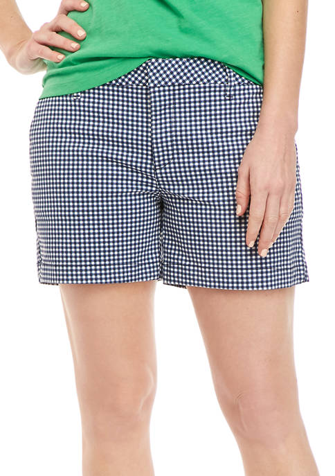 Womens 5 Inch Hollywood Gingham Shorts