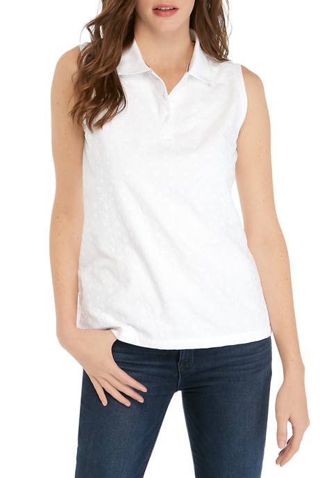 Womens Lace Polo Shirt