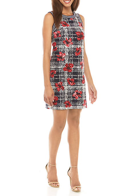 Tommy Hilfiger Sleeveless Floral Lace Dress