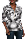 Womens Pop Over Picnic Check Top