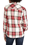 Womens Roll Tab Albert Plaid Shirt
