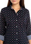 Womens Roll Tab Foulard Shirt