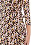 Womens Wrap Floral Dress