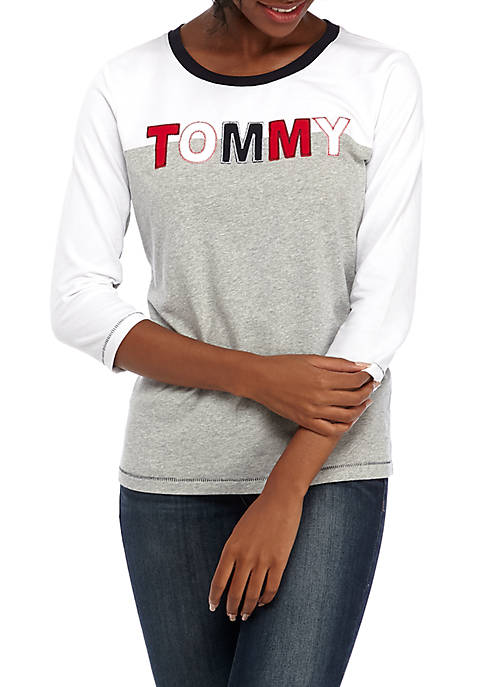 3/4 Sleeve Logo T-Shirt