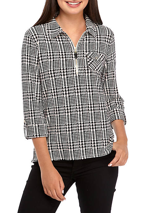 Glenn Plaid Popover Top