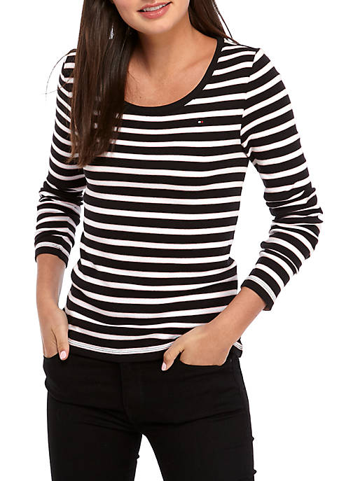 Long Sleeve Striped Flag T-Shirt