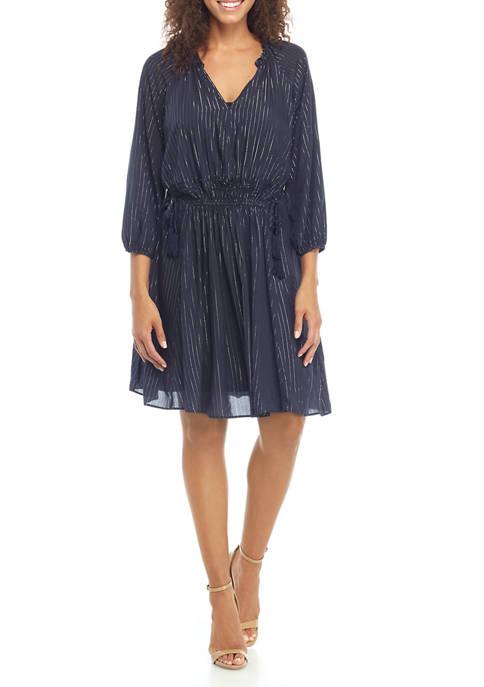 Womens Long Sleeve Flash Stripe Dress