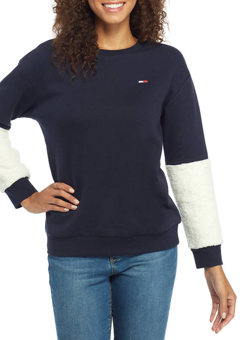 Womens Sherpa Sleeve Sweatshirt