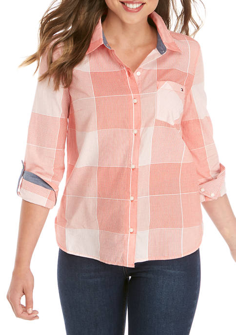 Womens Multi Roll Tab Woodland Shirt
