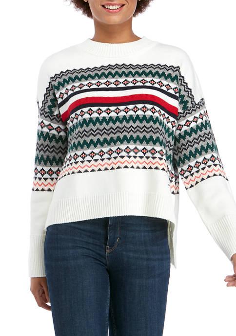 Womens Mixed Pattern Sweater