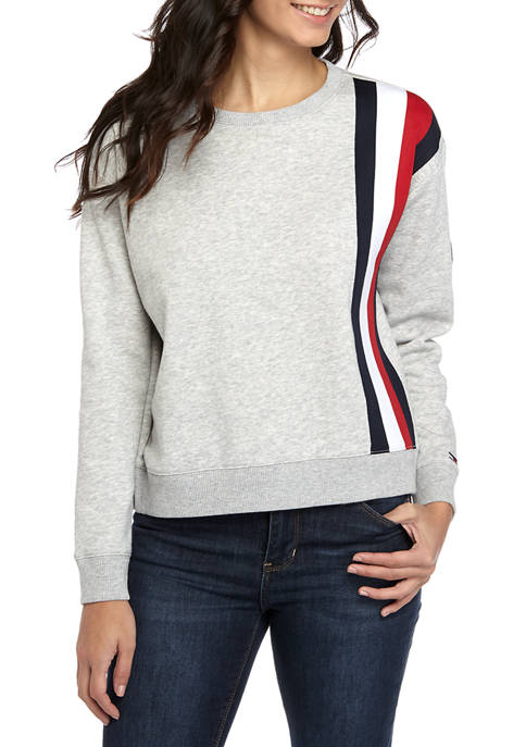 Womens Sweatshirt with Global Stripe