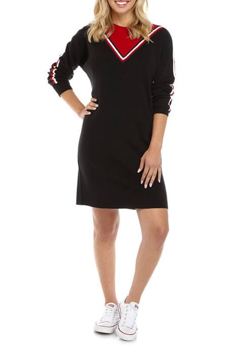 Womens Chevron Sweater Dress