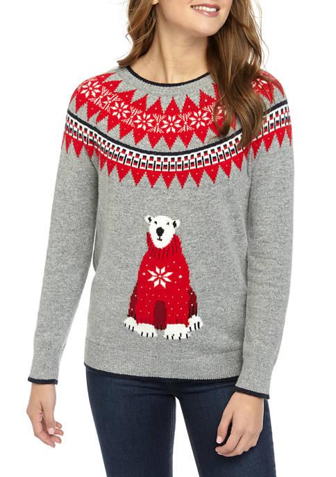 Womens Polar Bear Fairisle Sweater