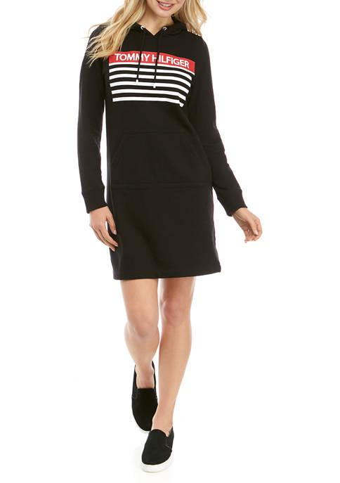 Womens Logo Graphic Hoodie Dress