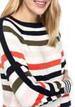 Womens Stripe Long Sleeve Sweater