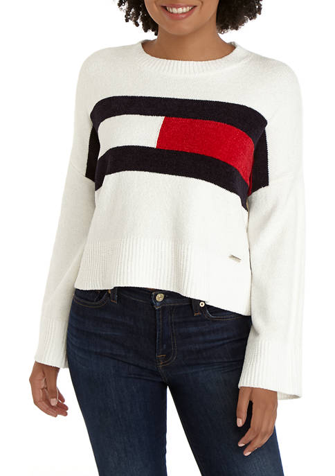 Womens Chenille Cropped Top
