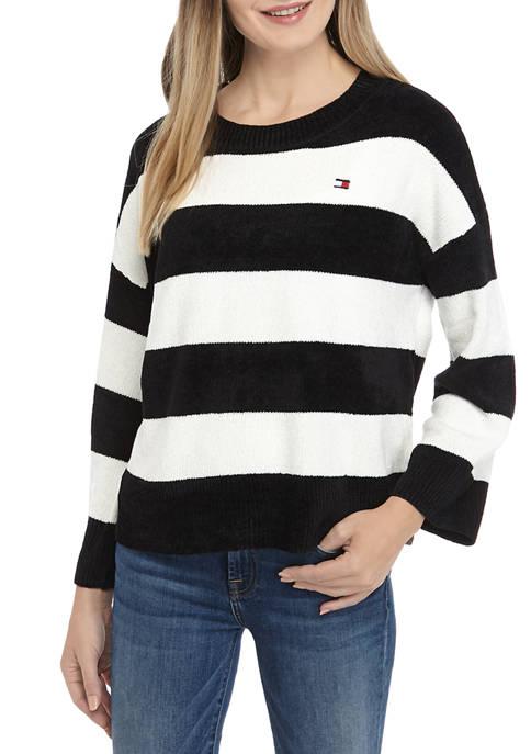 Chenille Pocket Crop Sweater