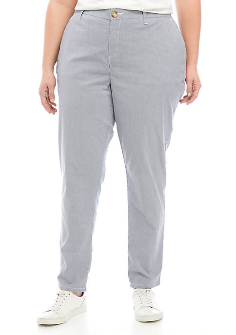 Plus Size Corded Chino Pants