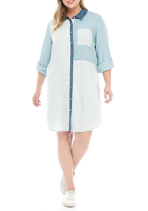 Plus Size Patchwork Dress