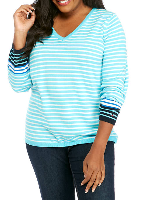 Plus Size Breton Stripe Ivy Sweater