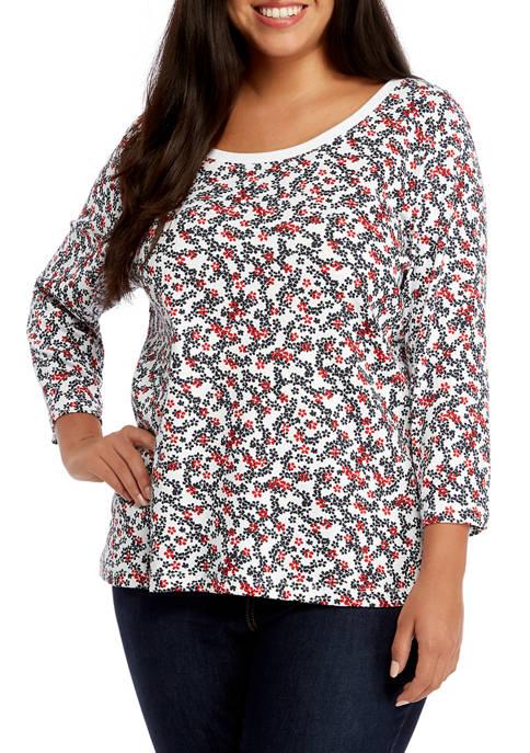 Plus Size Floral T-Shirt