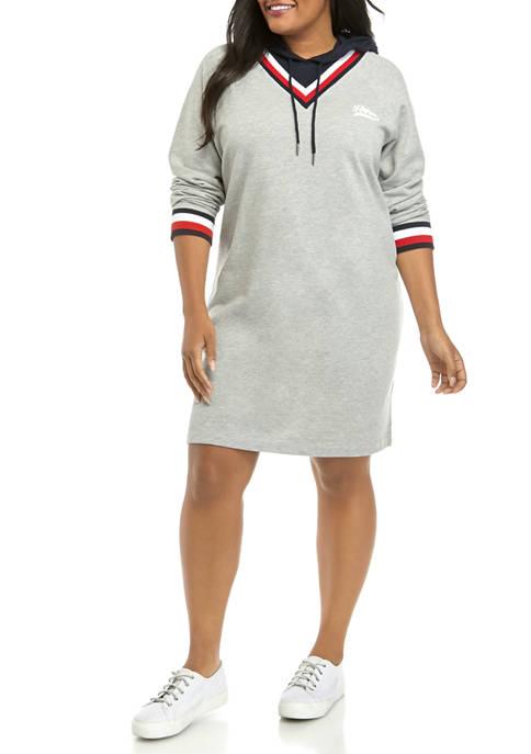 Tommy Hilfiger Plus Size 2 Front Hoodie Dress