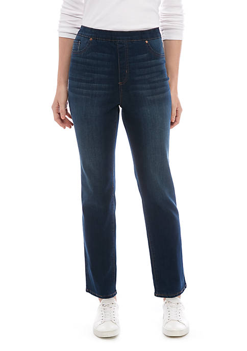 Kim Rogers® Womens Pull On Denim Jeans- Short
