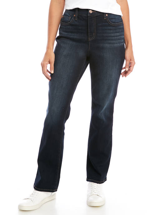 Kim Rogers® Womens 5 Pocket Bootcut Denim Jeans
