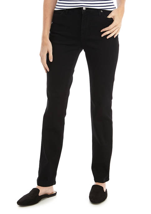 Kim Rogers® Petite 5 Pocket Short Denim Jeans