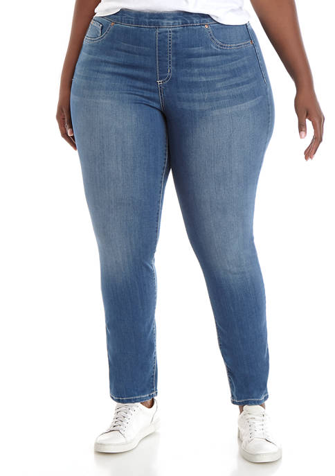 Plus Size Pull On Jeans- Average