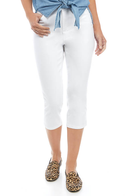 Kim Rogers® Womens 5 Pocket Denim Capri Pants