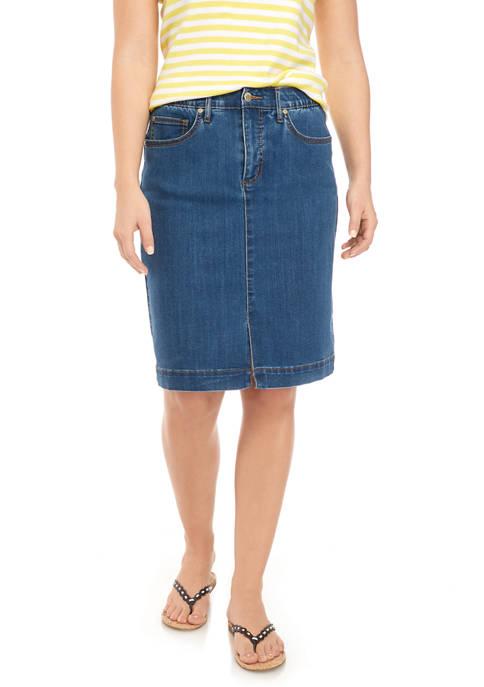 Kim Rogers® Womens Denim Skirt