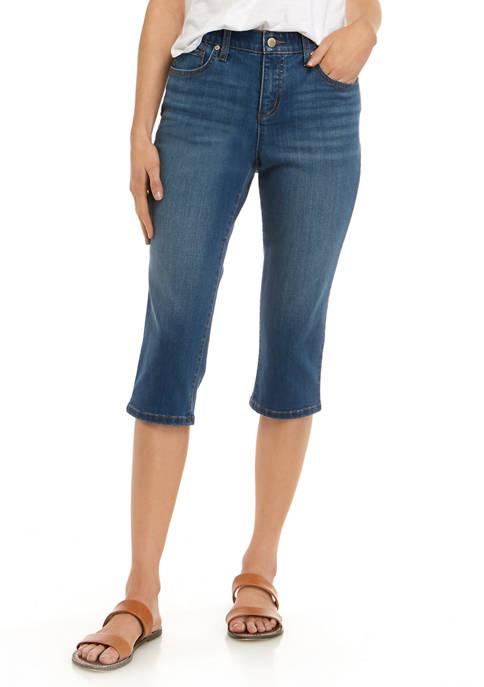 Kim Rogers® Petite Cropped Denim Capris
