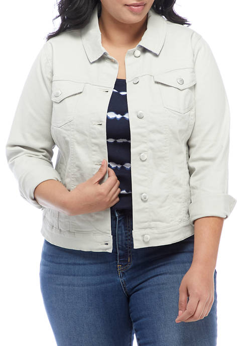 Kim Rogers® Plus Size Jean Jacket with Lined