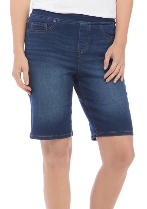 Kim Rogers® Petite Pull On Denim Bermuda Shorts