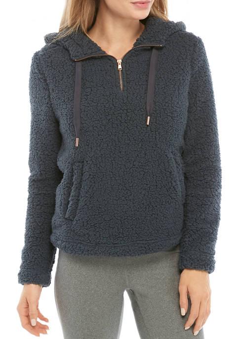 Womens Long Sleeve Sherpa Studio Hoodie