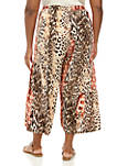 Plus Size Multi Animal Print Soft Pants