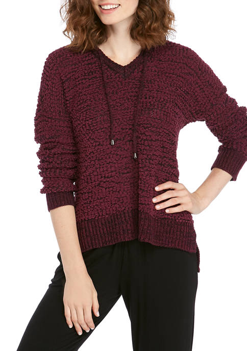 Womens Popcorn Pullover with Hood