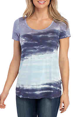 a12055273bacb New Directions® Short Sleeve Tie Dye T Shirt ...