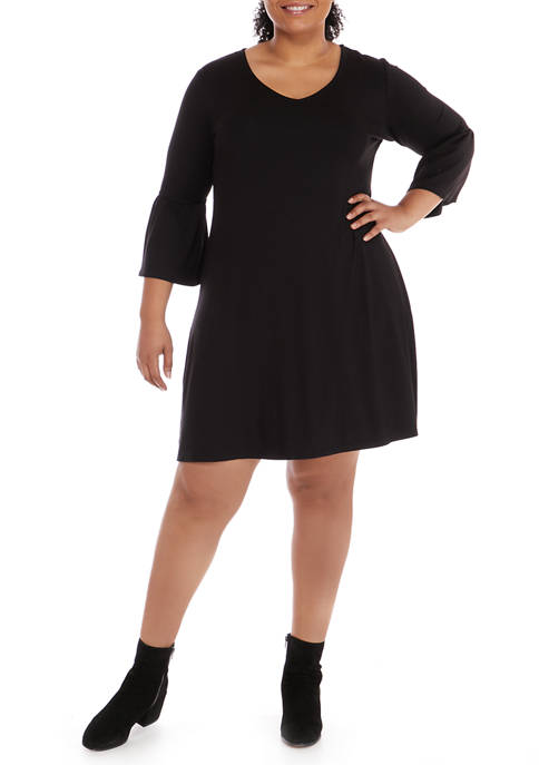 New Directions® Plus Size Juliana Crepe Bell Sleeve