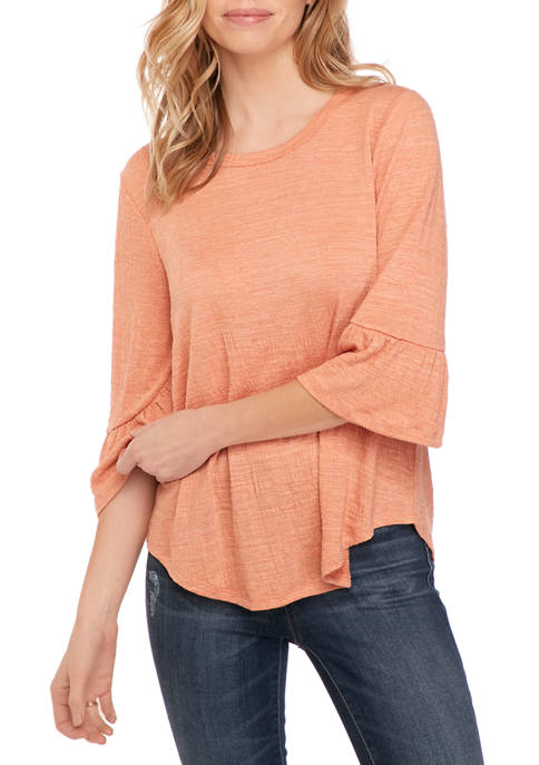 New Directions® Petite Ruffle Sleeve Top