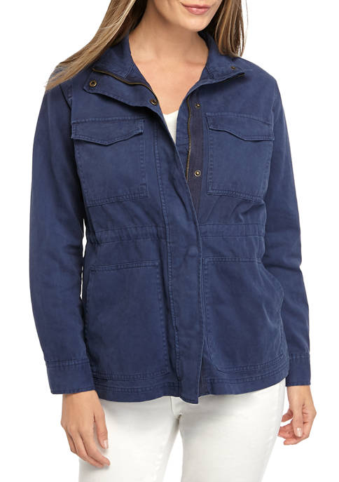 New Directions® Womens Long Sleeve Utility Jacket