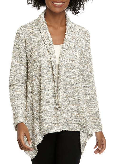 New Directions® Womens Knit Boucle Cardigan