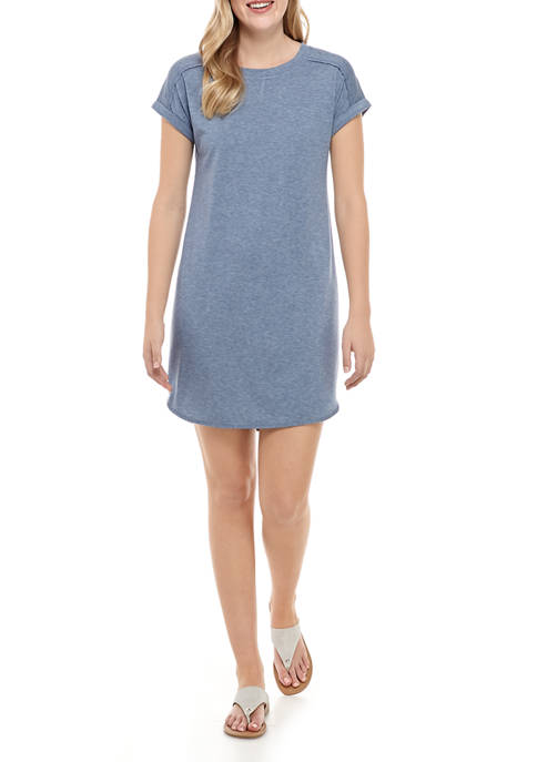 New Directions® Womens Short Sleeve Baby Terry Dress