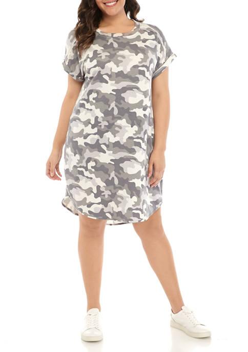 Plus Size Studio Camouflage Dress