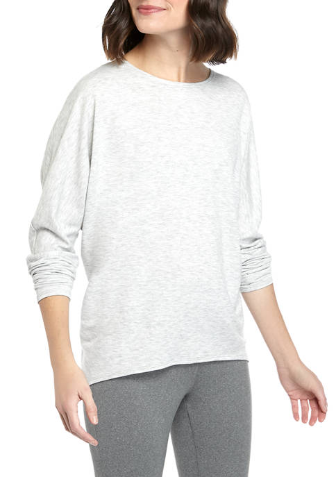 New Directions® Womens Studio Dolman Sleeve Baby Terry